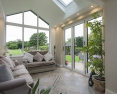 Bi-fold doors in Hampshire add a contemporary feel to orangeries and conservatories. View our aluminium Bi-Fold Door range and get a FREE quote. Bungalow Extensions, Garden Room Extensions, House Extensions, House Extension Plans, House Extension Design, Extension Ideas, Conservatory Design, Conservatory Ideas Interior Decor, Conservatory Interiors