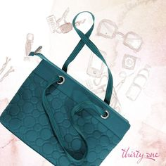 Vary You Versatile Bag (one of my favorites!) shown in Jade Quilted Dots.  Get it for 50% off when you spend $35 in August!