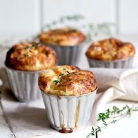 Parmesan Herb Popovers- Much cheaper to make them spend $ 25 at Sunday brunch just for the popovers!
