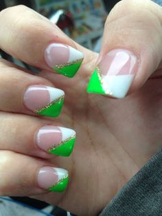 Image Via Beautiful Bunny On Green Grass Manicure For Girls Nail Art Design St Patricks Day