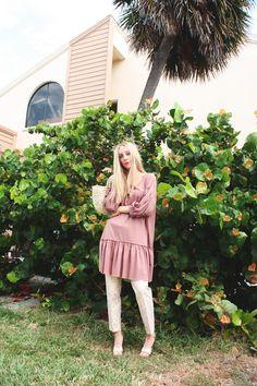 Calendula $72  ~ #style #fashion #womenswear #cool #rose #modeststyle #modestlooks #modestfashion #modern #florida #freshfinds #artdeco Bishop Sleeve, Calendula, Style Fashion, Florida, Feminine, Lifestyle, Rose, Modern, How To Wear