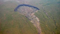 A crater formed in Siberia's permafrost is growing at an alarming rate (◐.̃◐) http://www.bbc.com/earth/story/20170223-in-siberia-there-is-a-huge-crater-and-it-is-getting-bigger