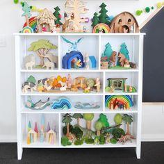 Montessori Playroom, Montessori Activities, Toddler Activities, Grimm's Toys, Kids Toys, Playroom Shelves, Muñeca Diy, Parents Room, Small World Play
