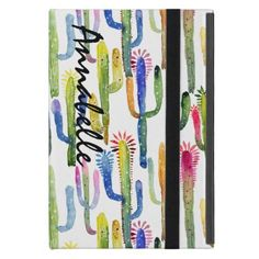 #trendy - #Cactus Pattern Colorful Watercolor iPad Mini Covers