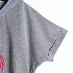 Graphic Elastic Waisted Shirt Dress