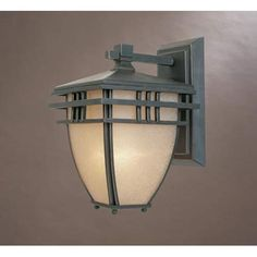 Dayton Aged Bronze Patina One-Light Outdoor Wall Mounted Light