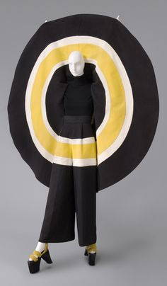 """Woman's Ensemble: Cape, Pants, and Clogs,"" 1973, designed by Kansai Yamamoto"