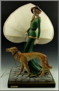 Edoardo Tasca Capodimonte Porcelain Lamp w Figurine | eBay