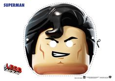 Ever since I was little, I have always loved Legos. My parents used to buy me large buckets of legos (although, they had a few of their dread Lego land mines). When Legos started releasing Lego gam… Lego Movie Party, Lego Movie Birthday, Lego Themed Party, Superman Mask, Superman Party, Superhero Party, Printable Halloween Masks, Printable Masks, Free Printables