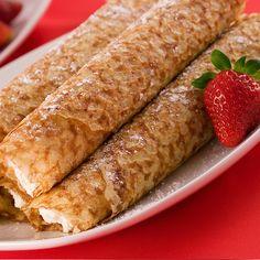 Crepes or French Pancakes can be served with any fruit. Crepes Recipe Recipe from Grandmothers Kitchen.