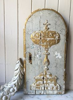 early 1800s antique French tabernacle door by histoireancienne
