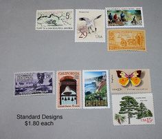 Reserved Custom Order for masserman .. Custom order of vintage postage stamps with a California theme for mailing wedding invitations. Sold on Etsy by TreasureFox, $360.00