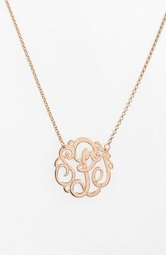 Argento Vivo Personalized Small 3-Initial Letter Monogram Necklace (Nordstrom Exclusive) $98.00Free Shipping Item #976587