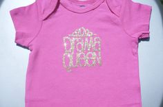 Girls Infant Onsie/Bodysuit Pink Glitter Drama Queen 6-9 Months Gold Glitter on Etsy, $8.00