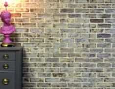 Adding faux brick walls to your space is super easy! Use Velvet Finishes to create that worn, layered look that comes with time. Diy Paper Christmas Tree, Christmas Tree Ornaments, Furniture Painting Techniques, Paint Furniture, Diy Earring Holder, Vintage Jewelry Crafts, Diy Jewelry, Jewelry Making, Jewelry Organization