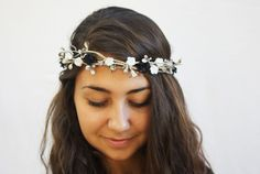 Silver Leaf Tiara - Winter Wedding Bridal Tiara, Silver Flower Crown, Winter Hair Wreath, Wedding, Halo, Holidays