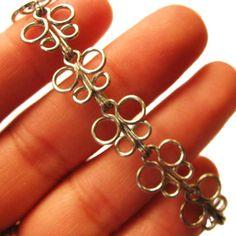 Butterfly Bracelet from paperclips