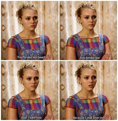 You broke me. And I hate you because I still love you. You Broke My Heart, You Broke Me, My Heart Is Breaking, I Still Love You, I Hate You, Tv Show Quotes, Film Quotes, The Carrie Diaries Sebastian, Bien Dit