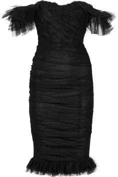 Dolce & Gabbana|Ruffled tulle dress|NET-A-PORTER.COM | $3445