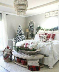 Holiday Master Bedroom Decor