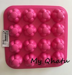 Pink Flower shape Ice Cube Tray Candy Jello Mold IKEA Silicone Ice Cubes #IKEA