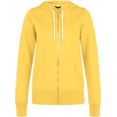 Yellow Basic Zip Up Hoodie ($23) ❤ liked on Polyvore featuring tops, hoodies, corn yellow, yellow hoodies, yellow zip up hoodie, hoodie top, hooded pullover and zip up top