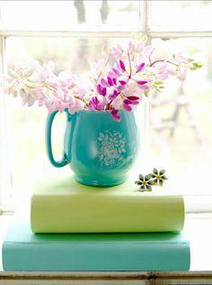 turquoise green and fuscia