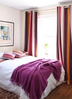 Artiga curtain panels and throw pillows