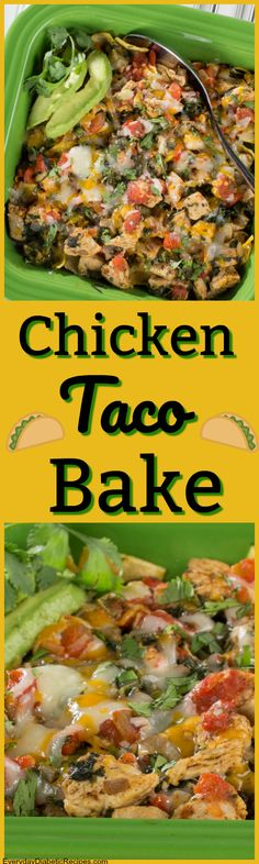 Perfect for weeknights, weekends, potlucks or just any time you want it! Baked Chicken Tacos, Chicken Dips, Mexican Food Recipes, Dinner Recipes, Cooking Recipes, Healthy Recipes, Yummy Recipes, Recipies, Taco Bake