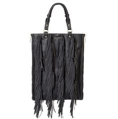 """Faux leather fringed bag """"Khlon"""" available on our shop online: www.mangano.com"""