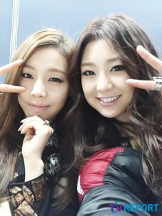 Ladies Code on TVReport!!! Ashley and Rise <3