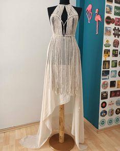 Festival Hippie, Festival Dress, Festival Outfits, Boho Hippie, Bohemian Style, Tulum, Macrame Dress, Recycled Dress, Evening Dresses