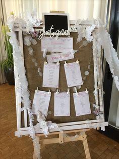 Tischplan Im Vintage Look Für Die Hochzeit