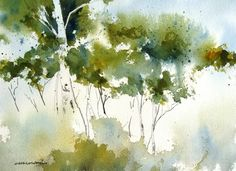 Little Grove - Original Watercolor Painting - contemporary - originals and limited editions - Charles Ash