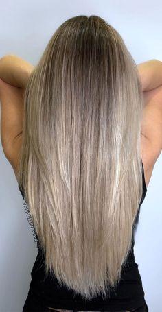 Blonde Hair Looks, Blonde Hair With Highlights, Brown Blonde Hair, Hair Color Balayage, Blonde Balayage Long Hair, Medium Ash Blonde Hair, Blonde Balyage, Full Balayage, Blonde Honey