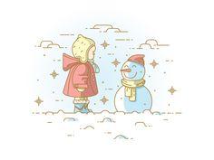 Snowman by Nutsa Avaliani