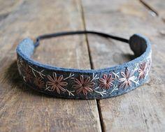 Boho Headband - Rustic Woodland Wedding Wear - Felt Headband - Flower Girl Headband - Hand Embroidered Headband My favorite headband to wear during a