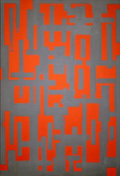 Untitled (Red and Gray) by American abstract painter Ad Reinhardt (1913-1967). via minori Chicago