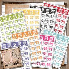 U printables by RebeccaB: FREE Printable - Bingo Smash Cards