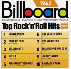 Santas Tools and Toys Workshop: Music: Billboard Top Rock'n'Roll Hits: 1962 Starting at $13.58 used.  New available also.  Prices and availability subject to change without notice.  Great gift for your favorite oldies lover.