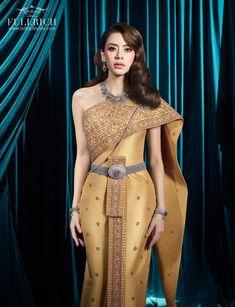 Thai Traditional Dress, One Shoulder, Costumes, Formal Dresses, Wedding, Fashion, Dresses For Formal, Valentines Day Weddings, Moda