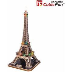 Eiffel Tower 3D Puzzle, Multicolor
