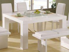 Modest Design White Dining Table Home | Aura Modern White Floating ...