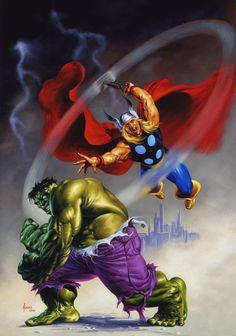 Hulk and Thor by Joe Jusko