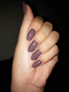 My Purple Almond Nails