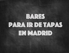 Tapas, raciones, aperitivos, comidas... Bares o restaurantes... El concepto es ambigüo ydifícil de explicar, pero estas son nuestras barras favoritas para tapear en Madrid.