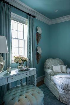 HGTV Dream Home 2015: Dressing Room   Sherwin-Williams® Watery SW 6478   Aqua