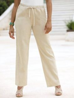 Linen pants, Slate and Linens on Pinterest