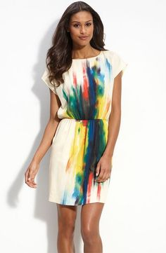 watercolor tunic dress (empire waist for maternity)