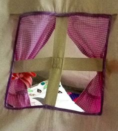 Yim Yam window. Home made teepee by Betty's Buttons of Ventnor. Find us on Facebook or www.bettys-buttons.co.uk